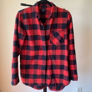 Madewell thick flannel shirt